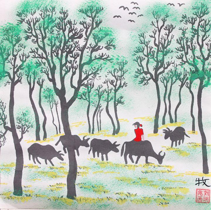 Herd - Folk Art