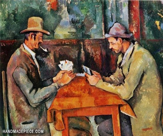 The Card Players by Paul Cezzane - Duchy renaissance