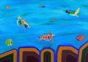 Sea Turtles and Reef Fish - Frank Gelott