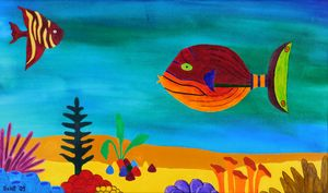 Fish above the  Gumdrop Coral - Frank Gelott