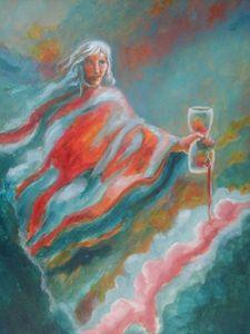 Angel and Broken Hourglass