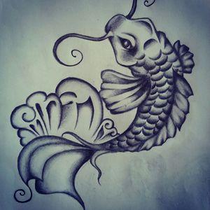 Coy Fish Sketch