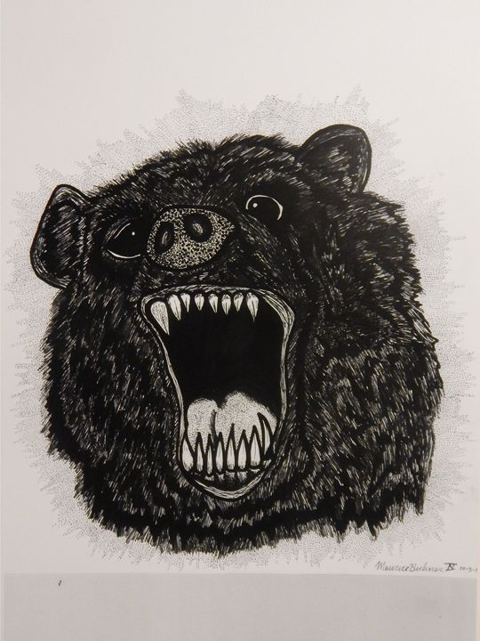 RAGE BEAR!!!: Hand-Drawn Sharpie-Art - Maurice Beckner IV