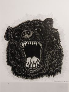 RAGE BEAR!!!: Hand-Drawn Sharpie-Art