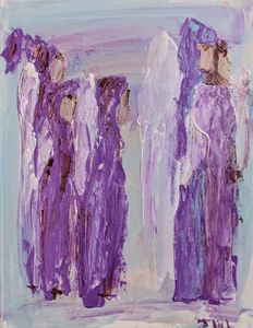 Angels in purple