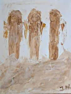 Three little muddy angels