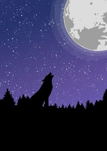 wolf and de moon
