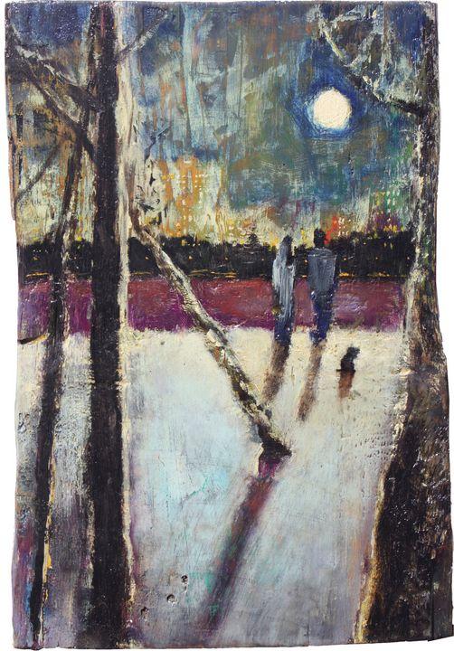 The moon in the city - Ekaterina Kukhareva