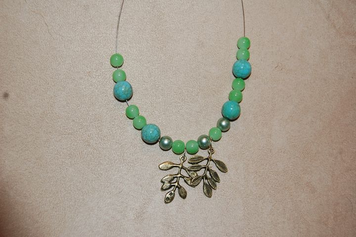 Leaves and Agate - Blue Blue Sky Creations
