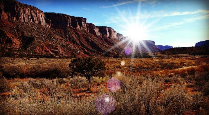 Sunlight over the Mesa - CalicoPony Creations