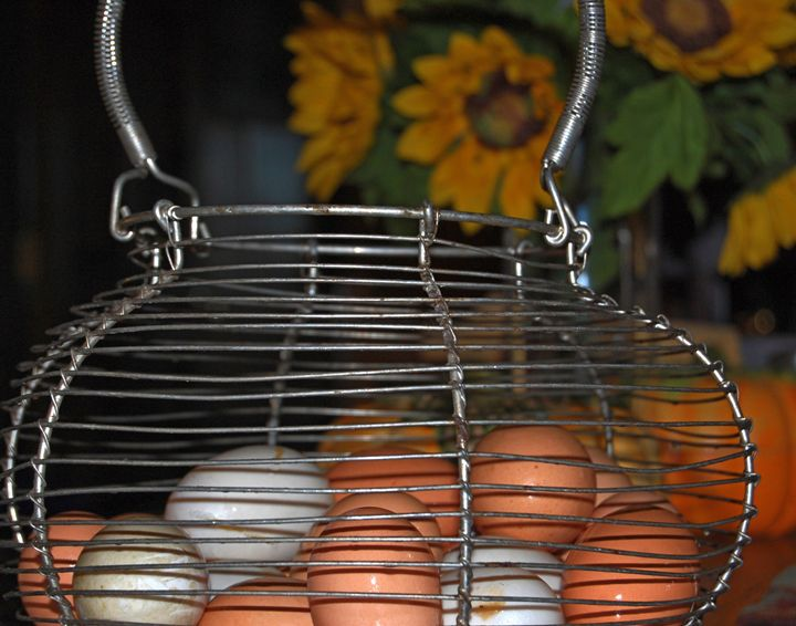 Basket of eggs - Blue Blue Sky Creations
