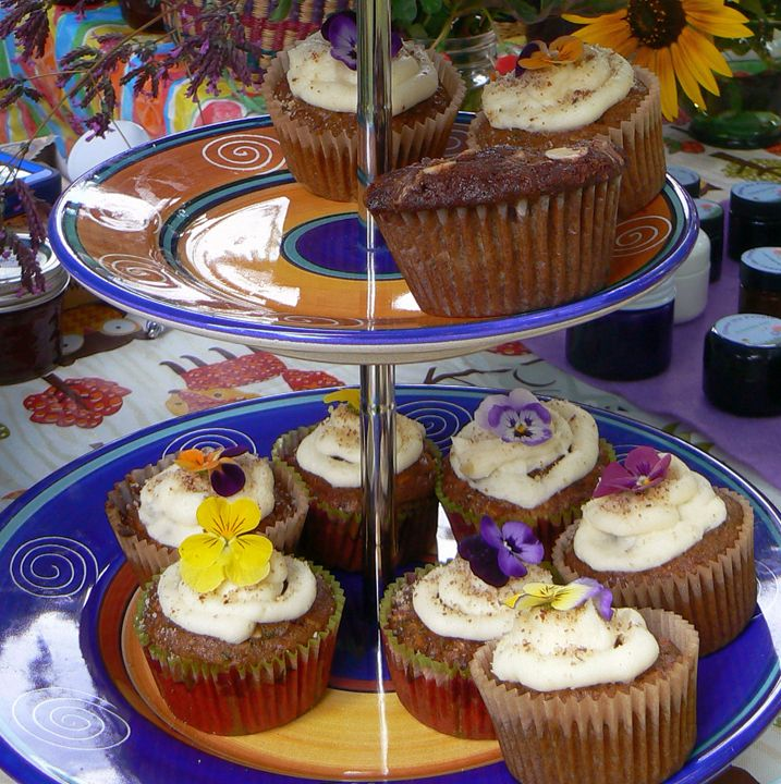 Pansy Cupcakes - Blue Blue Sky Creations
