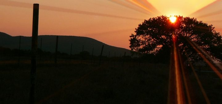 Sunrise over kokopeli - Blue Blue Sky Creations