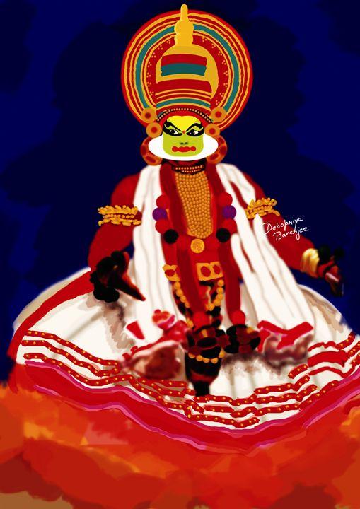 Painting of Kathakali Dancer - Debopriya Banerjee