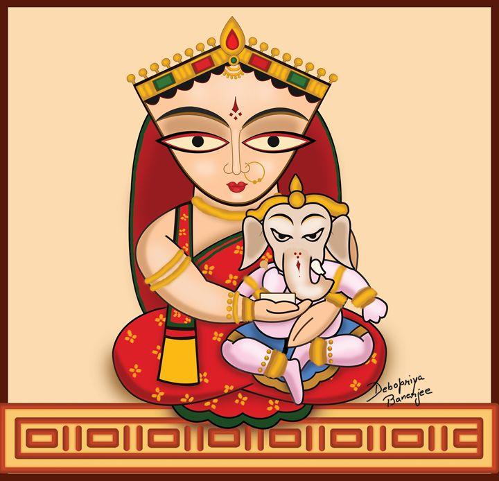 Jamini Roy Painting - Debopriya Banerjee
