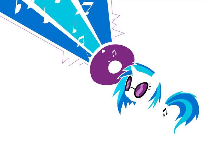 MLP Minimal DJ Vinyl Scratch Poster - JohnTakacsDesign