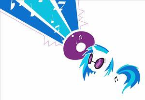 MLP Minimal DJ Vinyl Scratch Poster