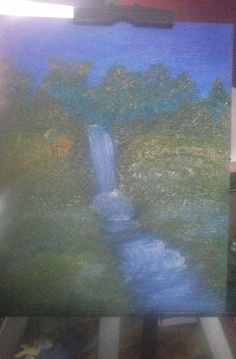 raging waterfall - angie b.