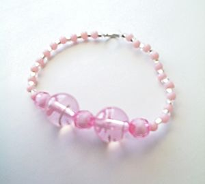See-Through Pink Bracelet
