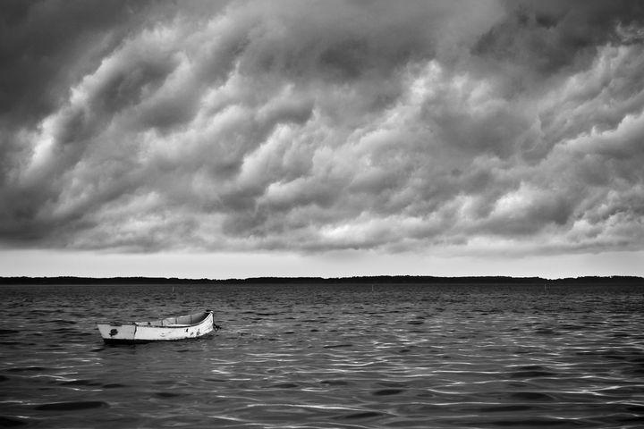 Lone Skiff Near Harkers Island NC - Bob Decker