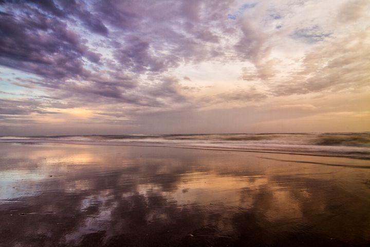 Clouds Reflected on Beach at Sunset - Bob Decker
