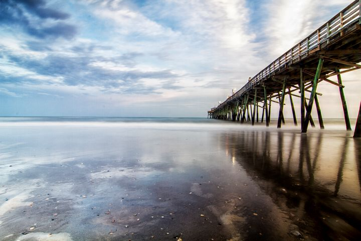 Fishing Pier and Clouds Reflected - Bob Decker