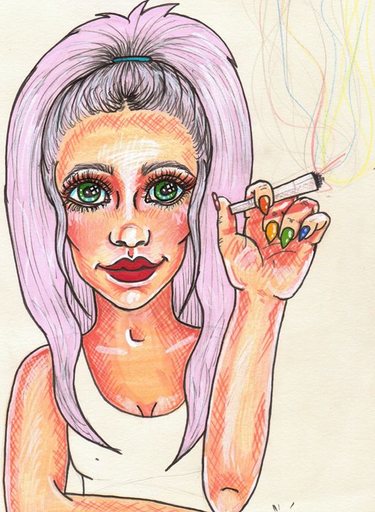 Rainbow smoker - Art by Gillian