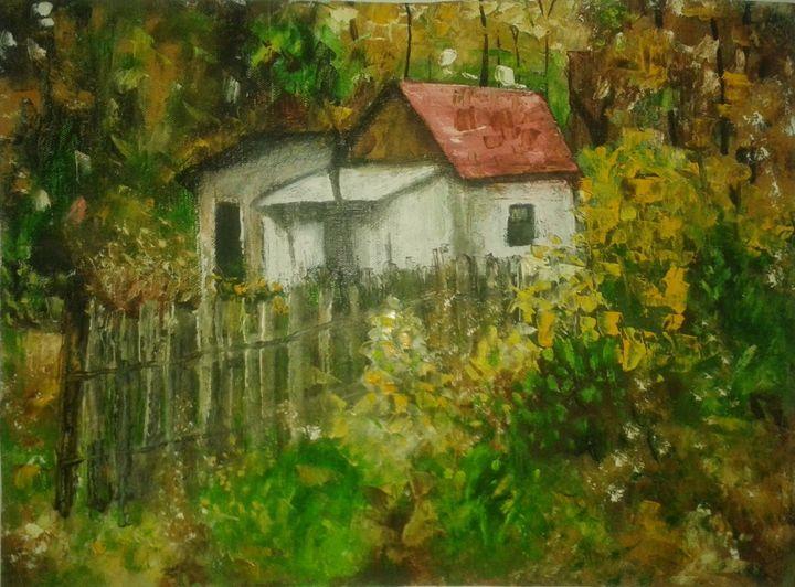 a house in autumn - Nirali