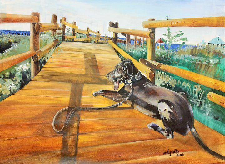 Guardian Black dog - Walyendo Gallery