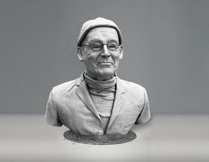 Michel Tournier sculpture - Sissy Piana
