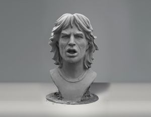 Mick Jagger sculpture