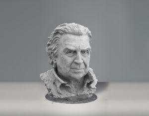 Mikis Theodorakis sculpture