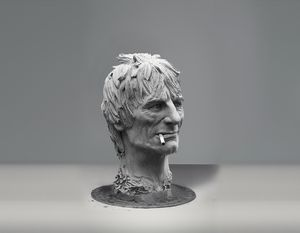 Ronnie Wood sculpture