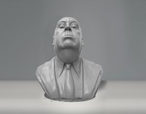 Alfred Hitchcock Bust - Sissy Piana