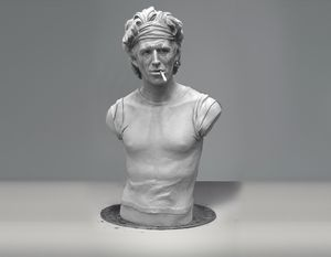 Keith Richards sculpture