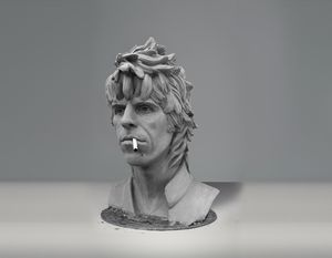 Keith Richards sculpture (younger)