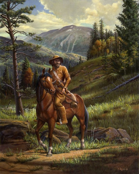 Jim Bridger Mountain Man Landscape - Walt Curlee Fine Art & Prints