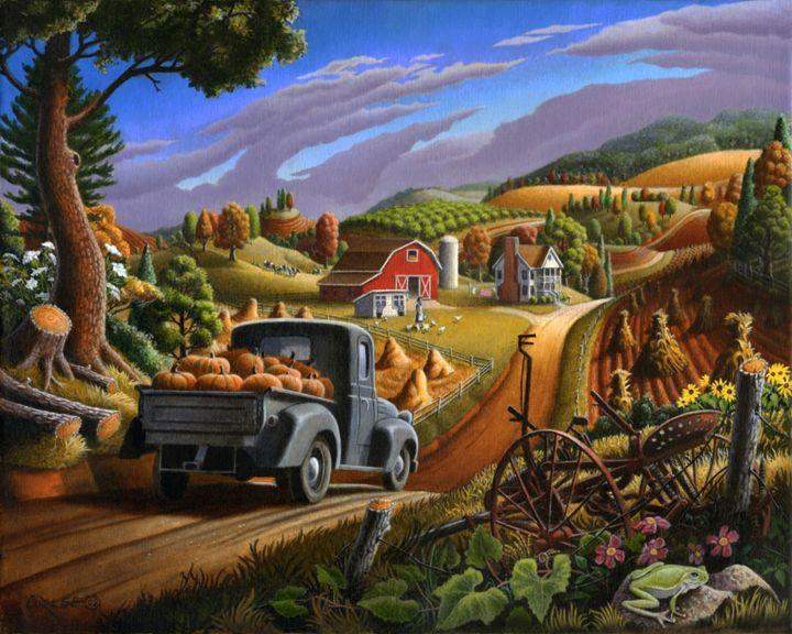 Taking Pumpkins To Market - Walt Curlee Fine Art & Prints