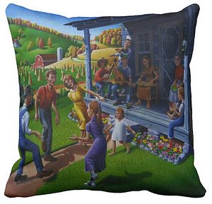 Porch Music Throw Pillow