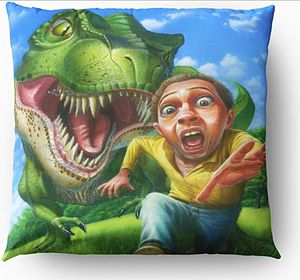 tyrannosaurus-Rex Throw Pillow