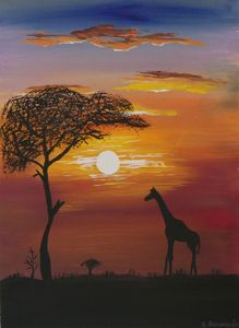 Sunset in Africa - Silvana Bennardo