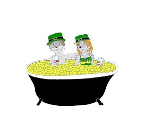 Hot tubbin leprechauns
