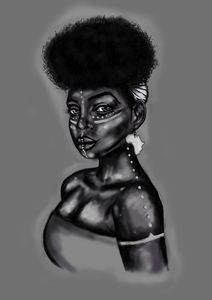 African Queen ( Black &White)