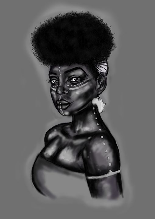 African Queen ( Black &White) - Sha Shas Touch