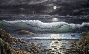 Moonrise-Amanecer de la Luna - Robert C. Murray II