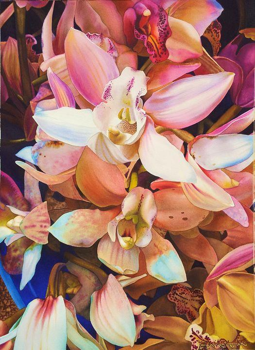 Orchids in Watercolor-55 x 75 cm - Robert C. Murray II