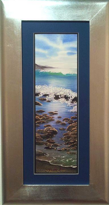 Blue midday marina-16 x 50 cm - Robert C. Murray II