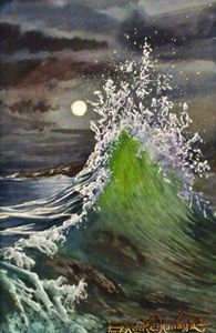 Night Waves-16 x 24 cm - Robert C. Murray II