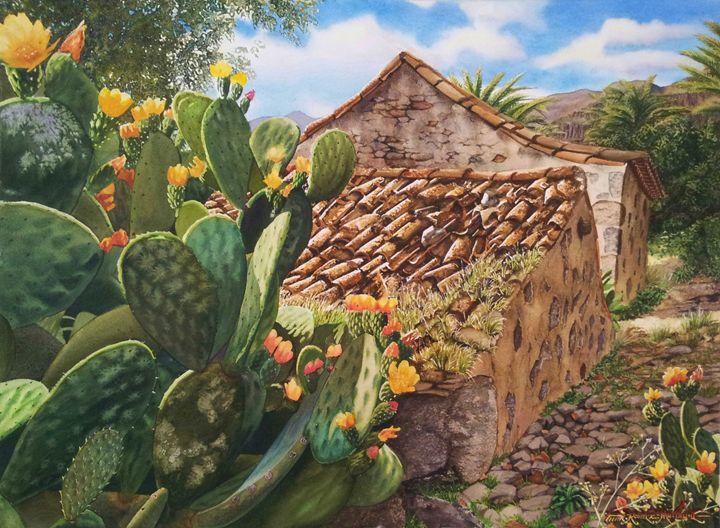 Reclamation-watercolor 75 x 55 cm - Robert C. Murray II