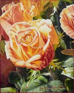 Striped Fire Rose - Robert C. Murray II